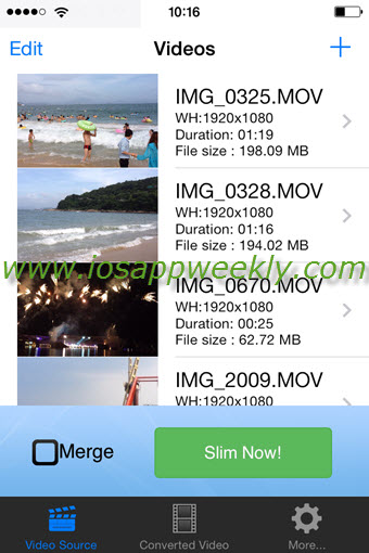 video slimmer app for ios