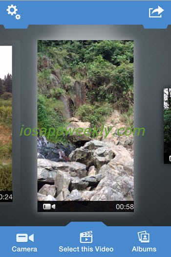video to photo grabber app - select and import video