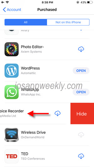 hide app from app store on iPhone