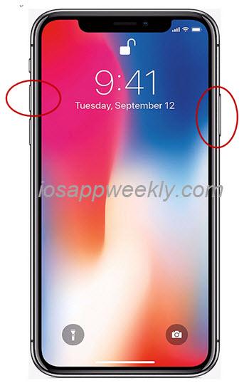 iphone x screen capture