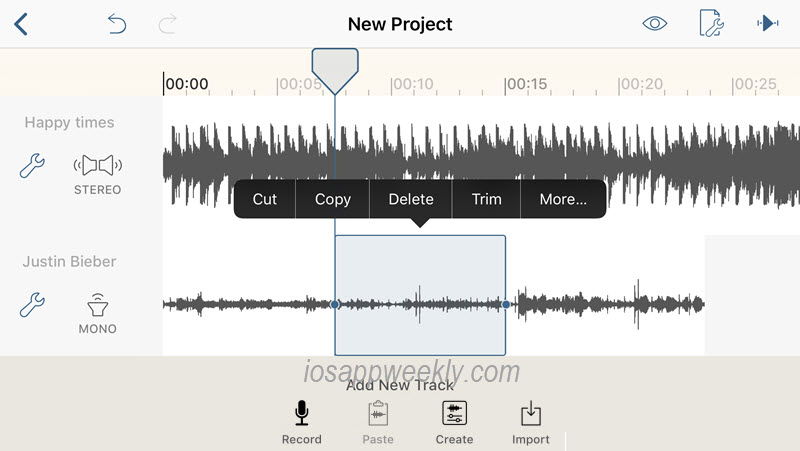 hokusai audio editor app for ios