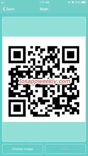 scan QR code from image on iPhone using free QR code reader