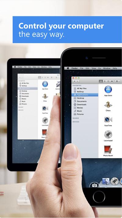 iphone remote control mac via teamviewer app