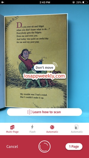 Scanbot scanner app to scan documents using iphone