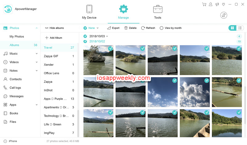 Apower Phone Manager to manage iPhone photos from PC or Mac