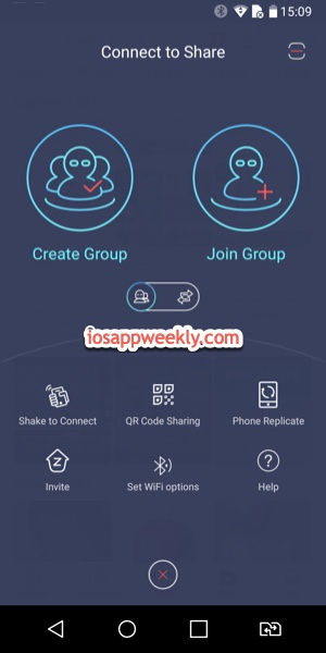 Zapya for Android connect to share screen