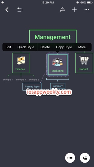 Create, edit Org Chart for free using XMind app on iPhone iPad
