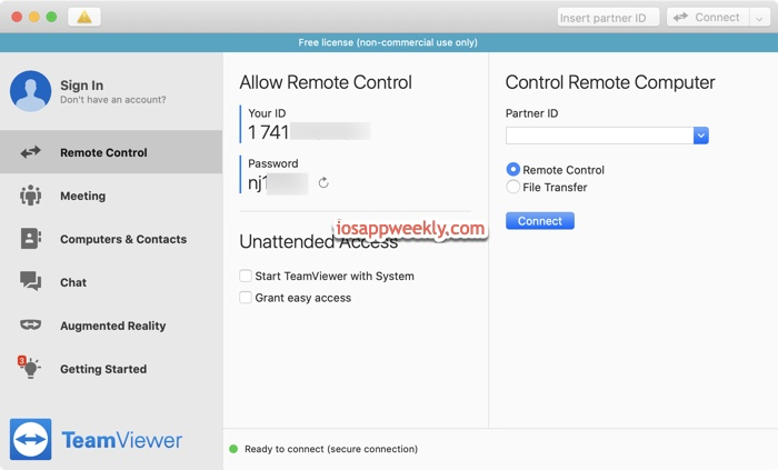teamviewer remote control for mac