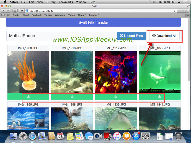download photos videos from iphone to mac wirelessly over wifi using swift transfer