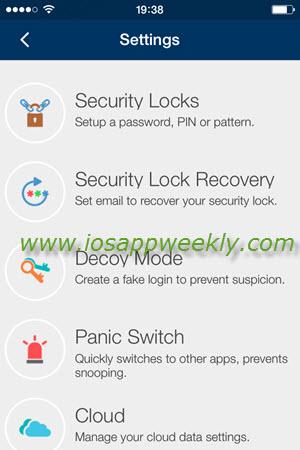 iphone folder lock settings