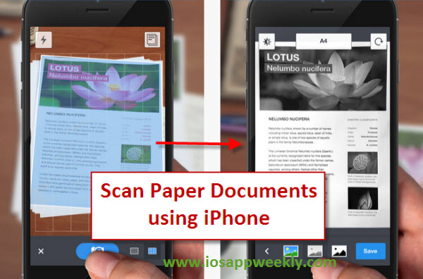 scan paper documents using iphone ipad