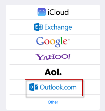 add hotmail as outlook.com option