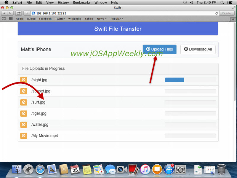 Transfer Photos & Videos from Mac to iPhone over Wi-Fi for