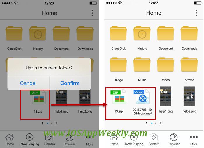 unzip file on iphone – open zip file on iphone