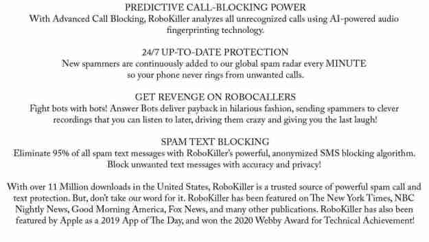 block Spam Text