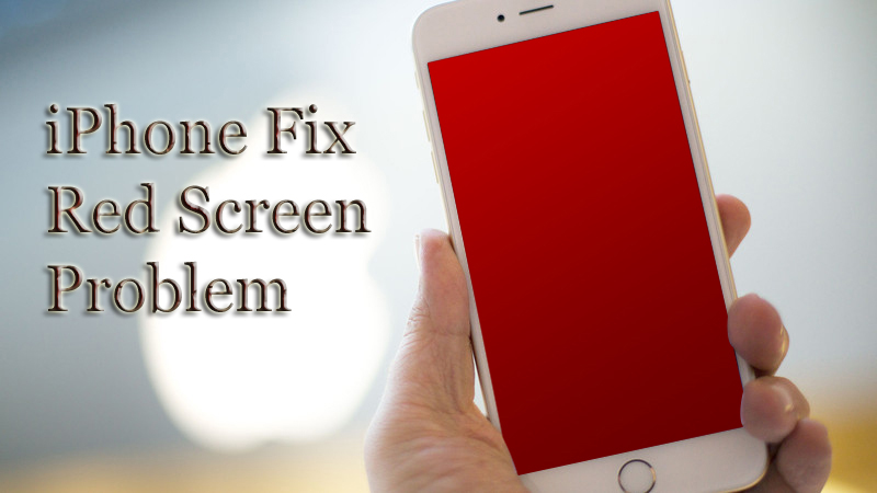 Apple iPhone red screen