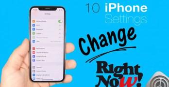 Change iPhone settings