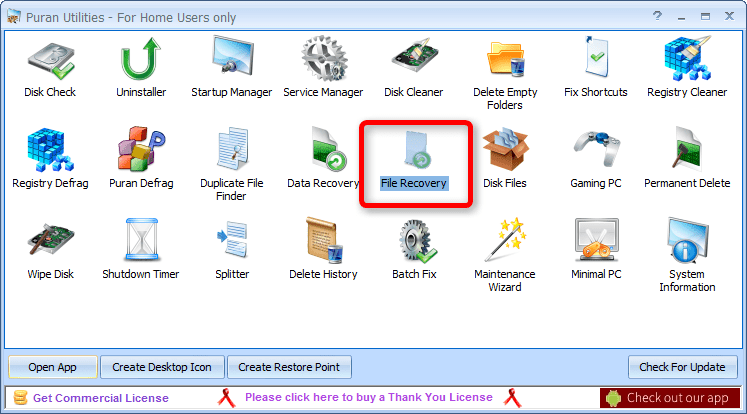 Choose File Recovery