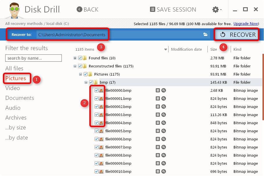 Recover deleted photos on Windows 10 with Disk Drill