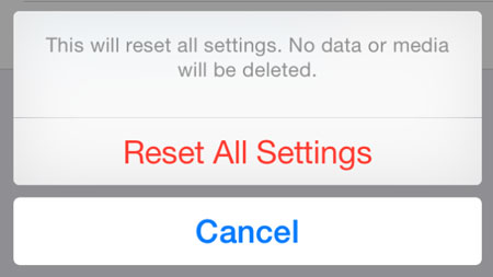 Reset all settings to fix iPhone keeps restarting