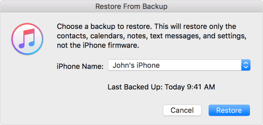 iMessage not loading old messages? Restore iPhone from iTunes
