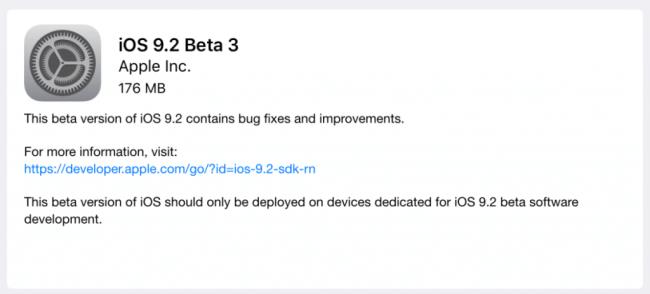 iOS 9.2 actualización