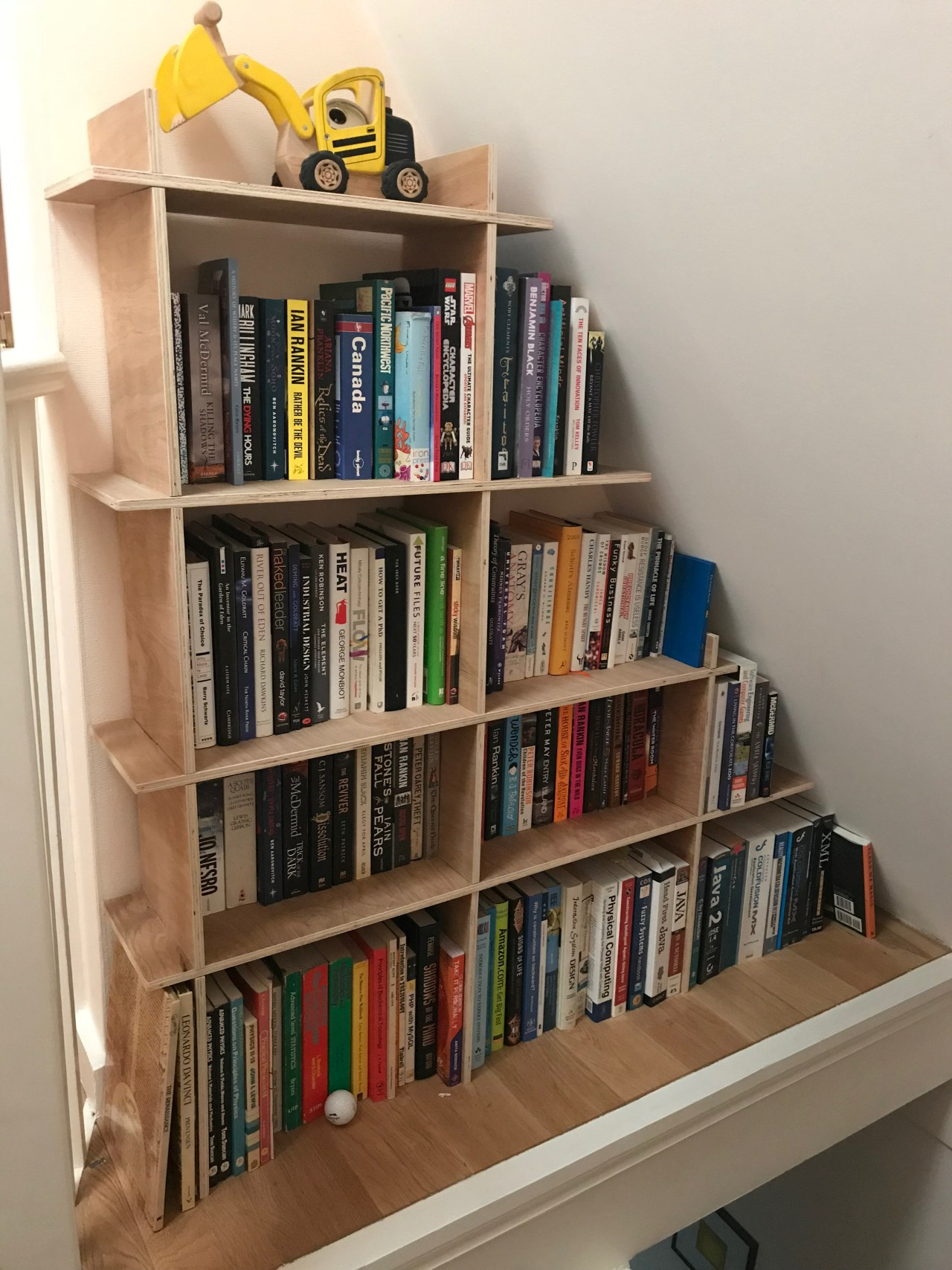 Plywood Angle Shelving
