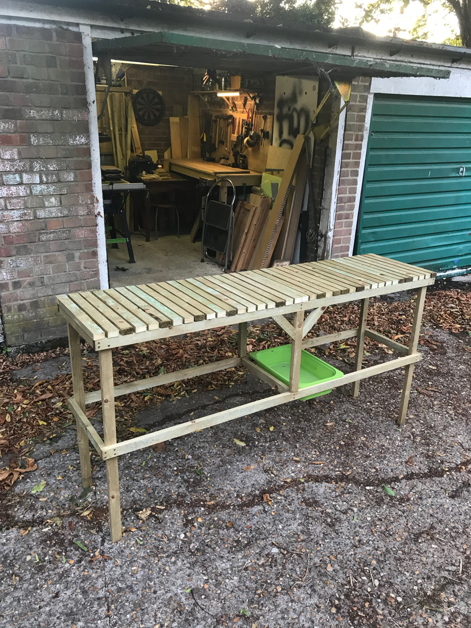 Greenhouse planting table