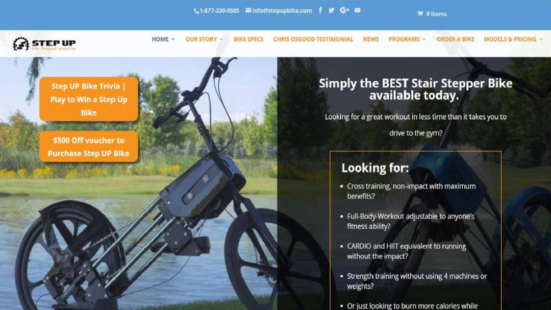 Responsive Design Website Sports Equipment iOT Marketing Media Digital Advertising Agency for Small Business