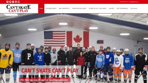 Website Design – Professional Skating Coach