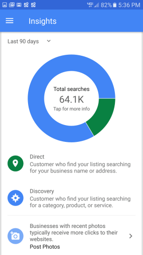Big Tommys 90 day Google Page Search Results iOT Marketing Media