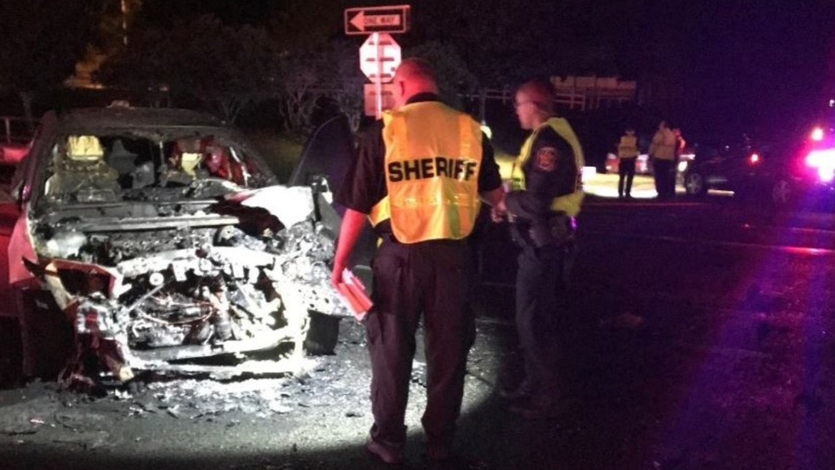 1 Dead, 3 Hurt After Rollover Crash in Polk County