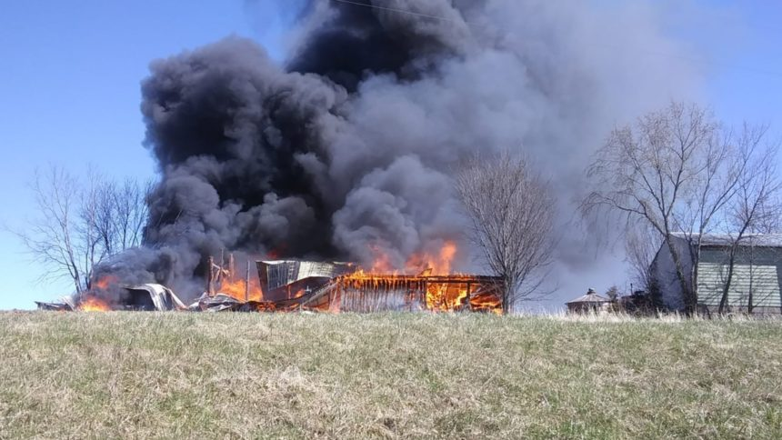 Madison County Barn Destroyed in Fire