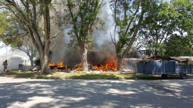 Fire destroys mobile home, damages second in Perry 12