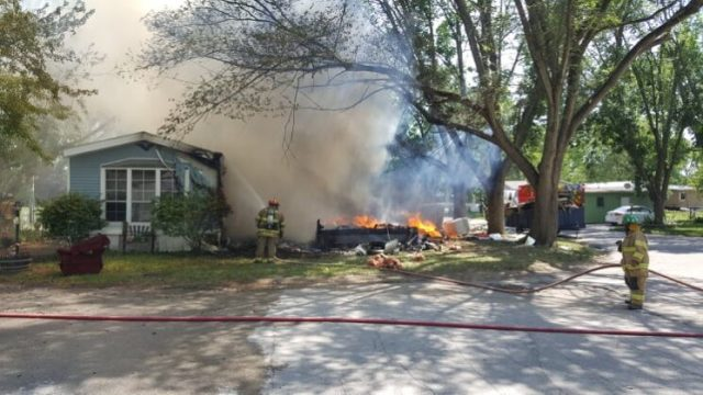 Fire destroys mobile home, damages second in Perry 13