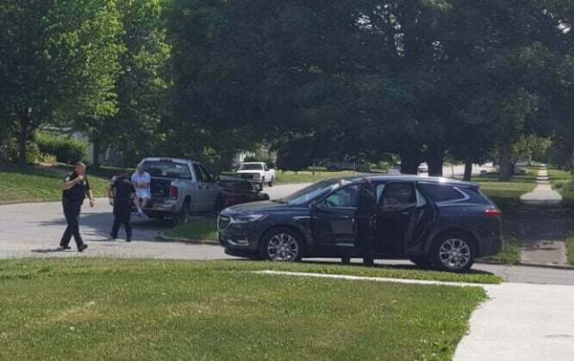Pickup, SUV collide at Otley Avenue, Fifth Street Thursday 1