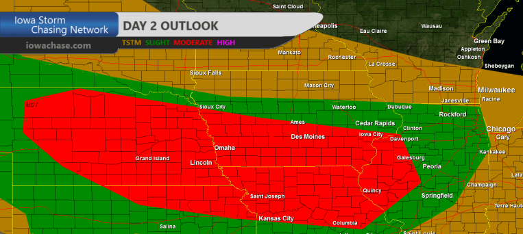 Iowa Moderate Covective Outlook
