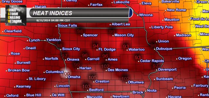 Iowa Heat Indices
