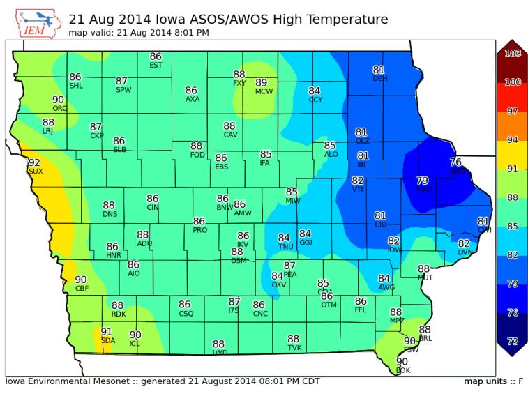Iowa High Temps
