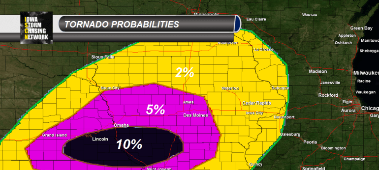 Iowa Tornado Potential