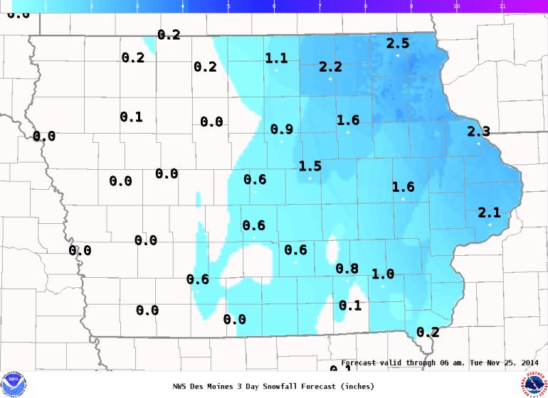 Snowfall Forecast Iowa
