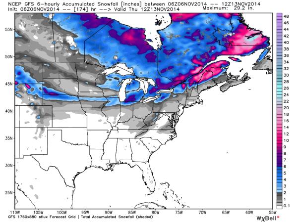 06z GFS Snowfall