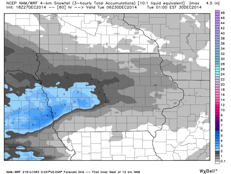 WRF Snowfall Forecast