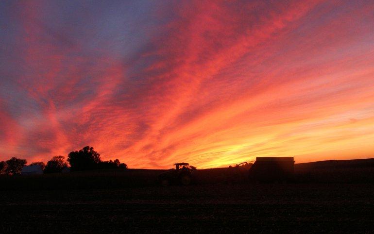 Iowa Farm Country Sunset