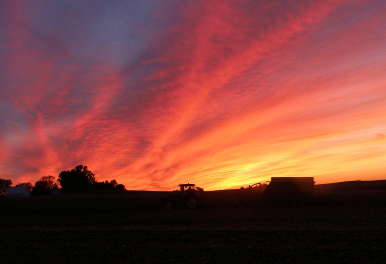 Iowa Farm Country Sunset
