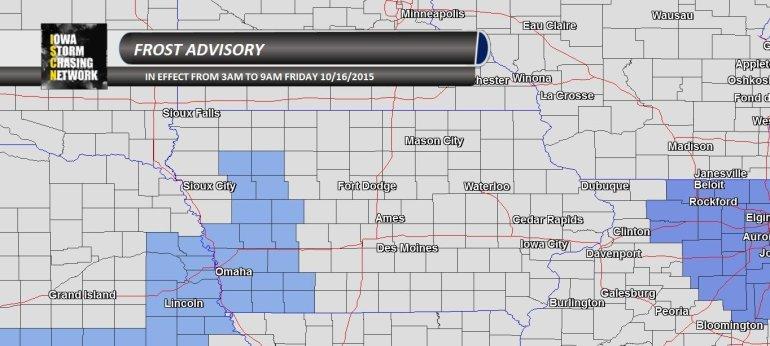 Iowa Frost Advisory