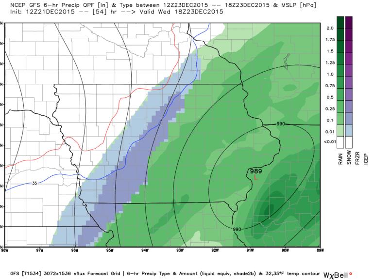 GFS Rain/Snow Forecast