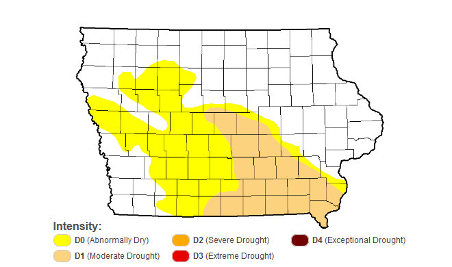 Iowa Drought Monitor