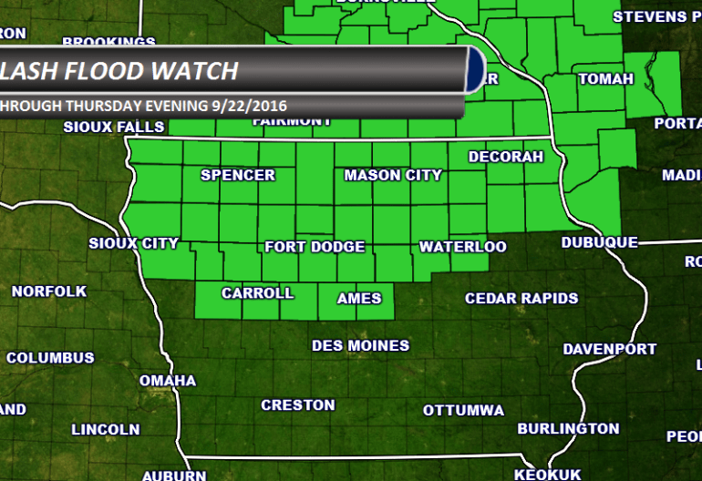 Iowa Flash Flood Watch