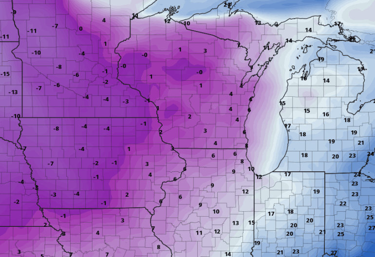 Iowa Wind Chills Thursday